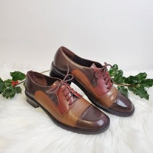 NICOLE Brazilian Flap Jack Toe Cap Leather Oxford